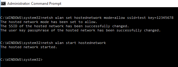 How to start ad hoc connection